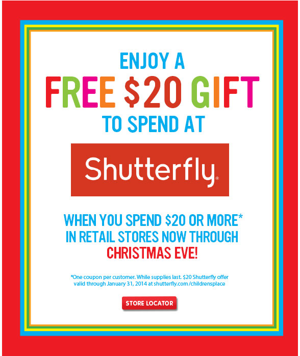 Enjoy Your FREE Gift of 20$ to Spend at Shutterfly