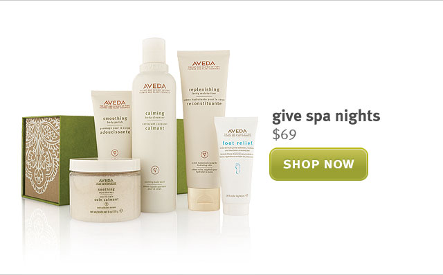 give spa nighte. shop now.