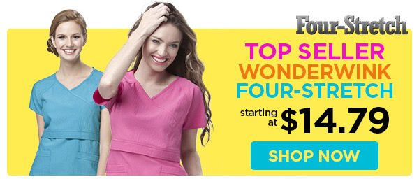 WonderWink Four-Stretch - starting at $14.79 - Shop Now