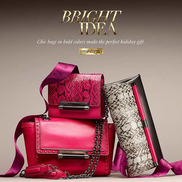 Bright Idea: Chic bags in bold colors make the perfect holiday gift. Shop Gifts.