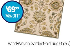 Hand-Woven GardenGold Rug (4ft x 5ft 7in) - $69.99 - 74% off‡