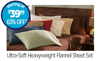 Ultra-Soft Heavyweight Flannel Sheet Set - Starting at $39.99 - 63% off‡