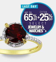 LAST DAY - Up to 65% off + Extra 25% off Select Jewelry & Watches**