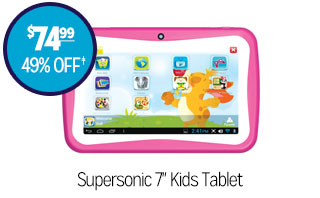 Supersonic 7in Kids Tablet - $74.99 - 49% off‡
