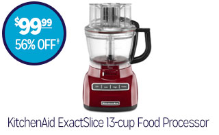 KitchenAid ExactSlice 13-cup Food Processor - $99.99 - 56% off‡