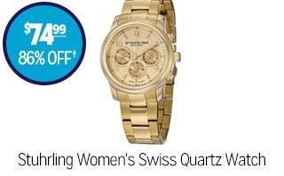 Stuhrling Women's Swiss Quartz Watch - $74.99 - 86% off‡