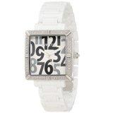 Invicta 10264 Women's Classique Ceramics White Square Diamond White Dial Watch