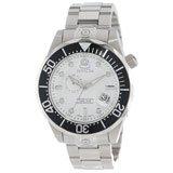 Invicta 13696 Men's Grand Diver White Dial Steel Bracelet Dive Automatic Watch
