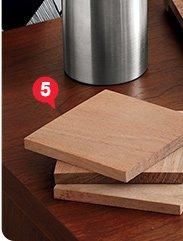 5. set of 4 chop coasters 6.36 reg 7.95
