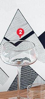 2. mae cocktail glass 3.96 reg 4.95