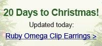 Ruby Omega Clip Earrings