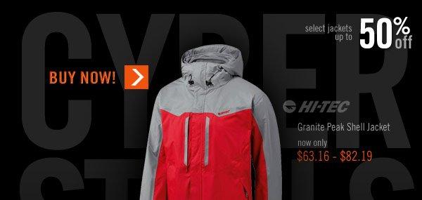 Hi-Tec Men's Granite Peak Shell Jacket