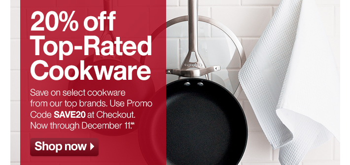 20% off Top-Rated Cookware