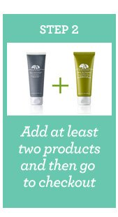 STEP 2 Add at least two products and then go to checkout