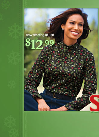 Save $5 on our festive holiday pritn top with the third deal of Christmas!