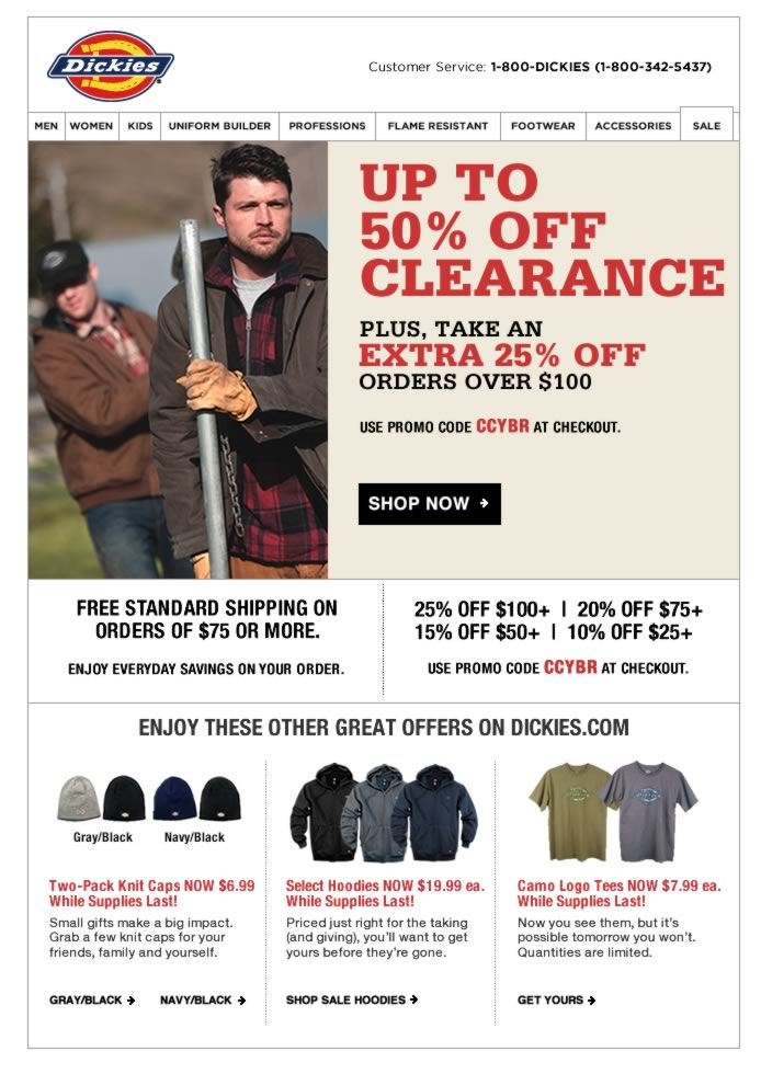 UP TO 50% OFF CLEARANCE PLUS, TAKE AN EXTRA 25% OFF ORDERS OVER $100+