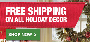 Free Shipping on Holiday Decor