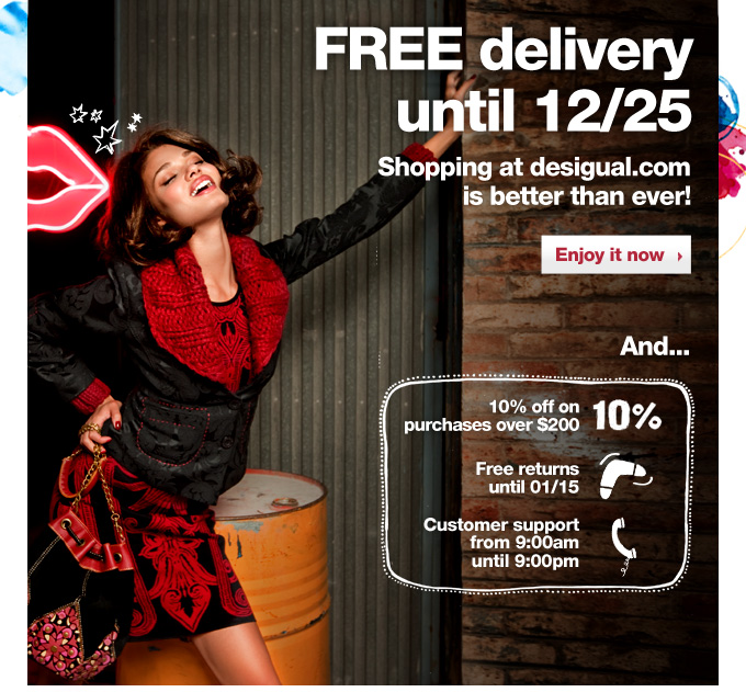 FREE delivery before the Holidays start