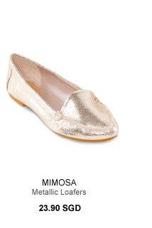 MIMOSA Metallic Loafers