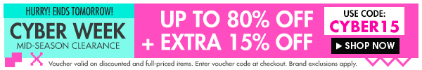 Up to 80% off + extra 15% off