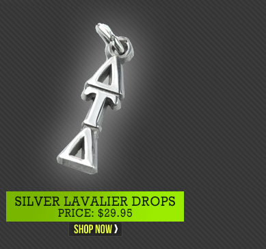 Silver Lavalier Drops