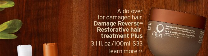 A do  over for damaged hair Damage Reverse Restorative Hair Treatment Plus  LEARN MORE