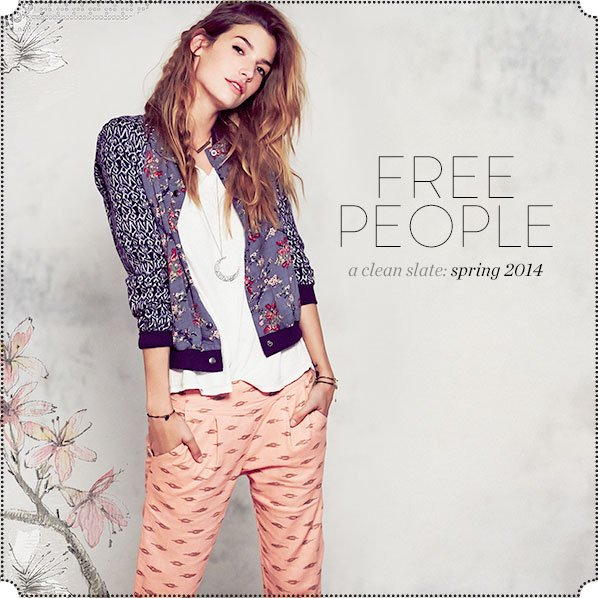 FREE PEOPLE - a clean slate: spring 2014