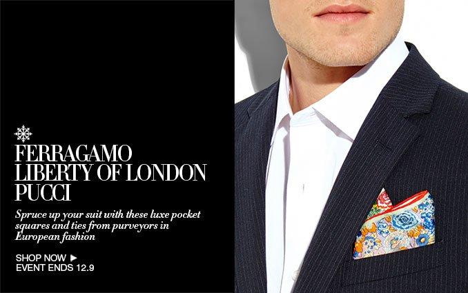 Shop Ferragamo, Liberty of London & Pucci for Men