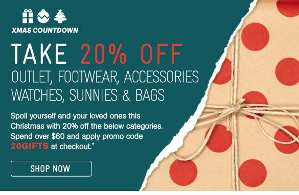 Take 20% Off Selected Categories