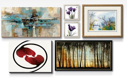 Morning Fjord Art By: Silvia Vassileva; LOVERS AT CHI TOU By: Chi Wen; Royal Purple Gentian Trio By: Albert Koetsier; Entwined Poppy Flowers By: Abdul Kadir Audah; Golden Forest By: Carolyn Reynolds