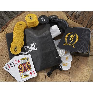 2 Browning® Travel Poker Sets