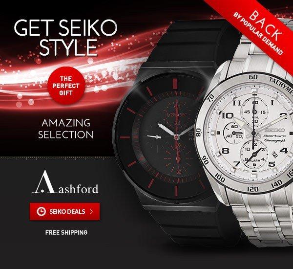 Extended! Seiko Deals at Ashford.com!