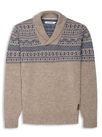 Shawl Collar Fairisle Jumper