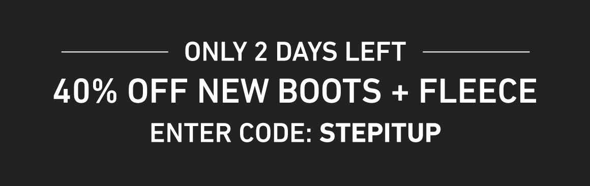 2 Days Left for 40% Off Men's Pants and Footwear