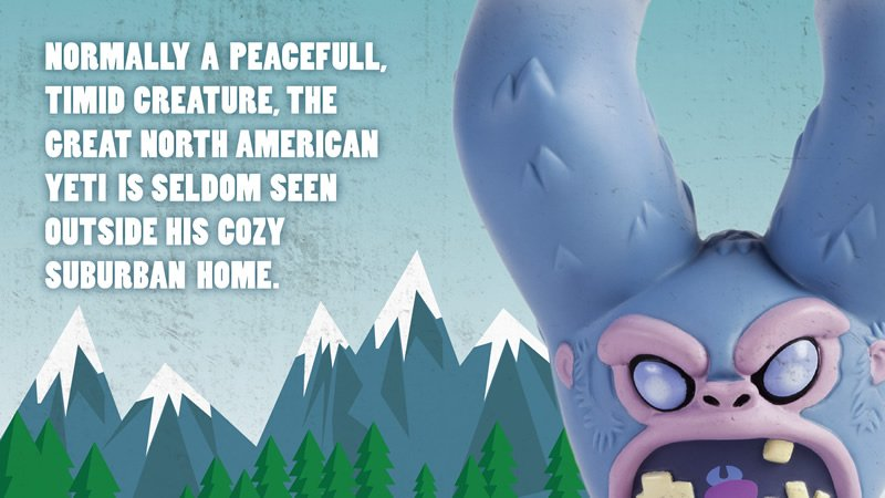 Normal a peaceful, timid creature, the great North American Yeti is seldom seen outside his cozy suburban home.