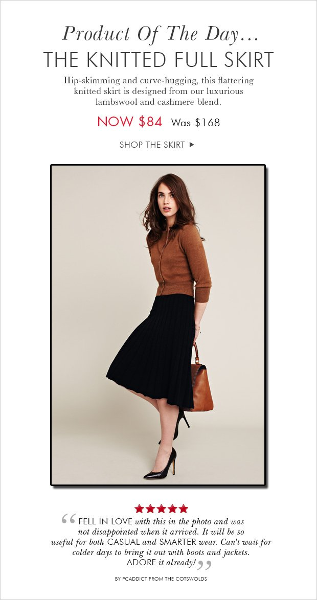 Download Images: Shop the Knitted Full Skirt.