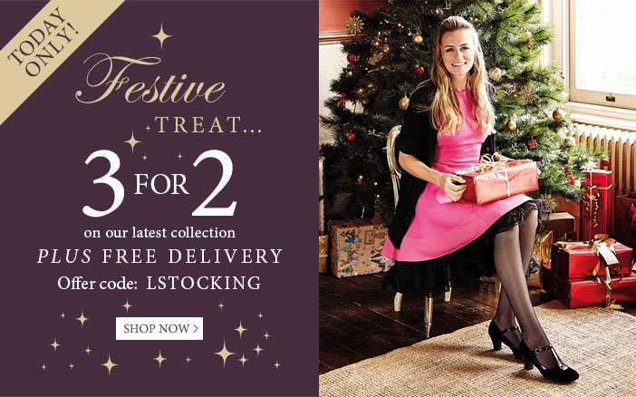 Festive Treat, 3 for 2 plus free delivery - use offer code LSTOCKING