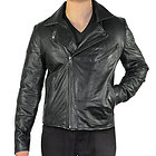 Xelement Mens Black Classic Casual Leather Jacket