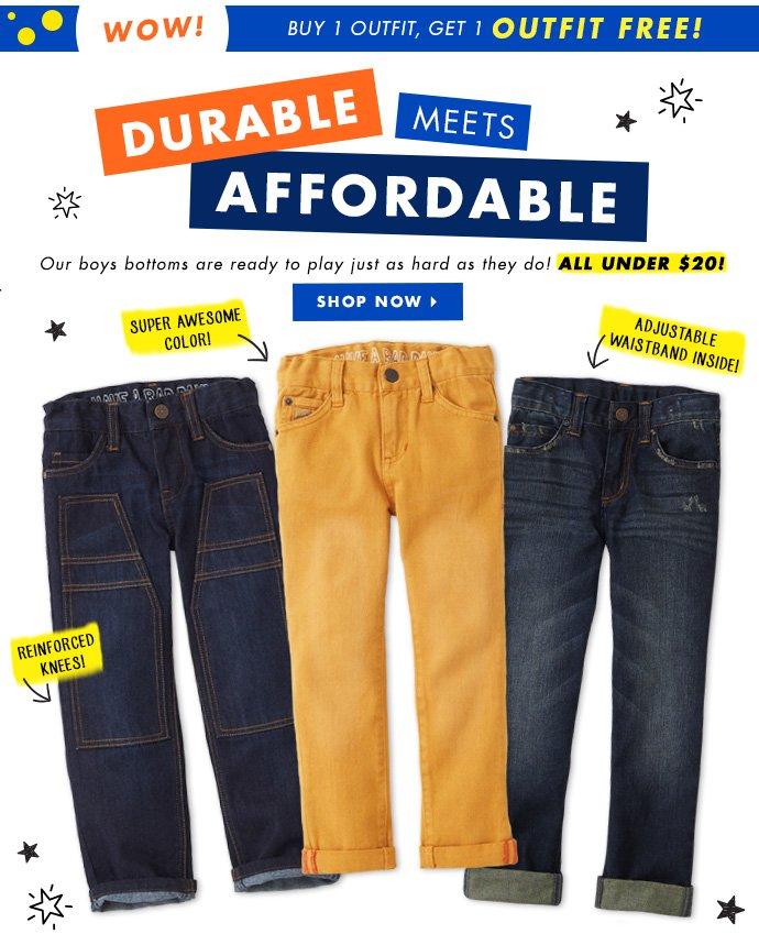 Boys Pants. Durable Meets Affordable.