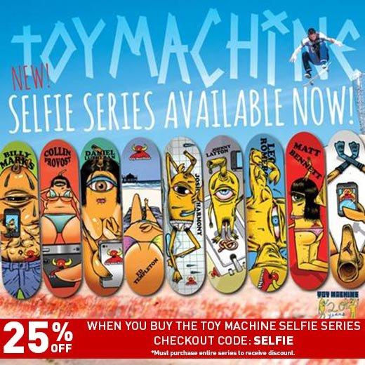 Toy Machine Selfie Series