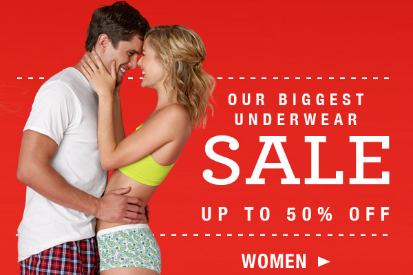 Biggest Underwear Sale Ever for Her