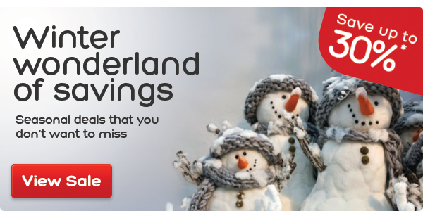 Winter Wonderland sale – up to 30% savings*