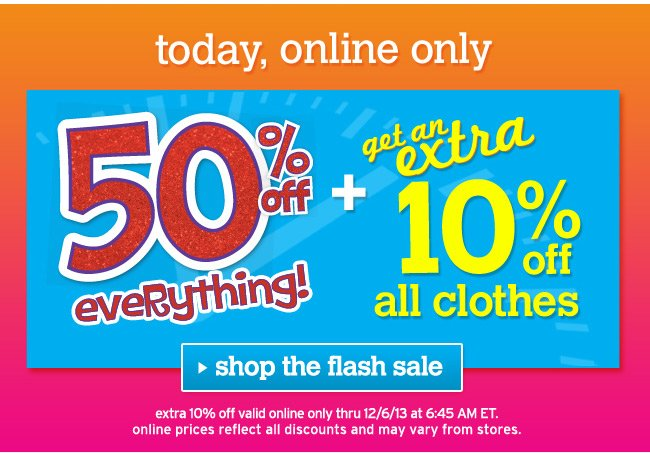 Extra 10% off all clothes
