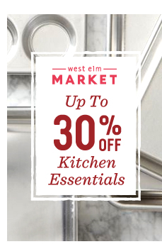 30% off cookware + bakeware* *Excludes select pieces and clearance items ending in .97 and .99