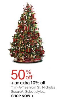 50% off Trim-A-Tree from St. Nicholas Square. Select styles. Shop now