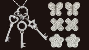 Italgem Diamond Accents in Sterling Silver and Stainless steel