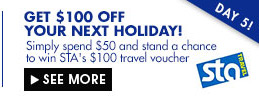 Get $100 off your next holiday