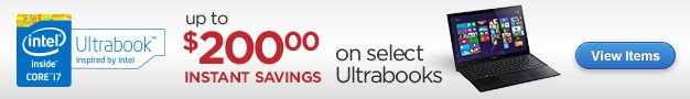 Up to $200 Instant Savings on Select Ultrabooks