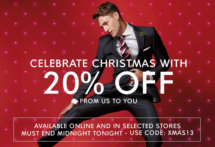 20% OFF Ends Midnight - use code XMAS13