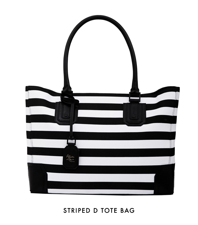 Striped D Tote